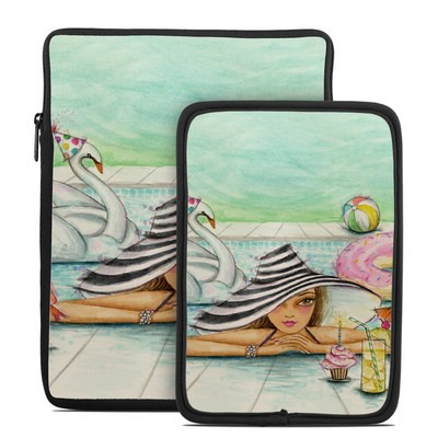 Tablet Sleeve - Delphine at the Pool Party