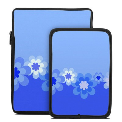 Tablet Sleeve - Retro Blue Flowers