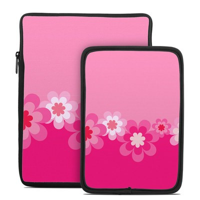 Tablet Sleeve - Retro Pink Flowers