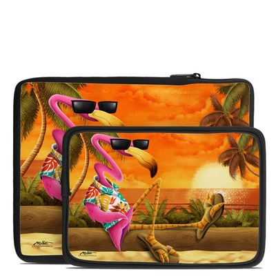 Tablet Sleeve - Sunset Flamingo