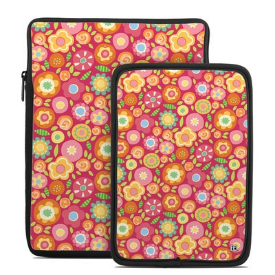 Tablet Sleeve - Flowers Squished