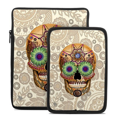 Tablet Sleeve - Sugar Skull Bone