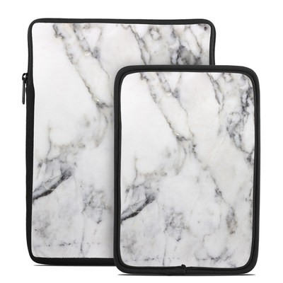 Tablet Sleeve - White Marble