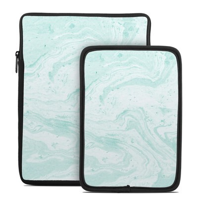 Tablet Sleeve - Winter Green Marble