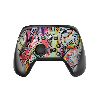Valve Steam Controller Skin - Battery Acid Meltdown