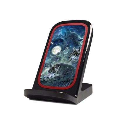 Verizon Qi Wireless Charging Stand Skin - Bark At The Moon
