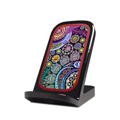 Verizon Qi Wireless Charging Stand Skin - Mehndi Garden