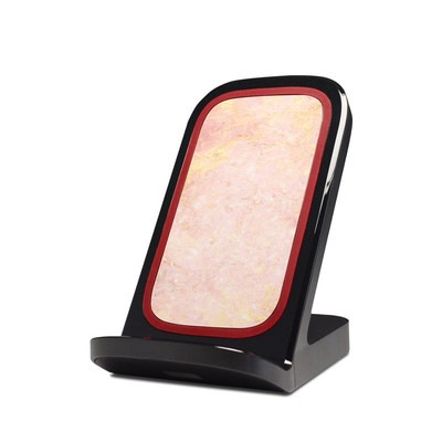 Verizon Qi Wireless Charging Stand Skin Black Marble By