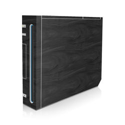 Wii Skin - Black Woodgrain