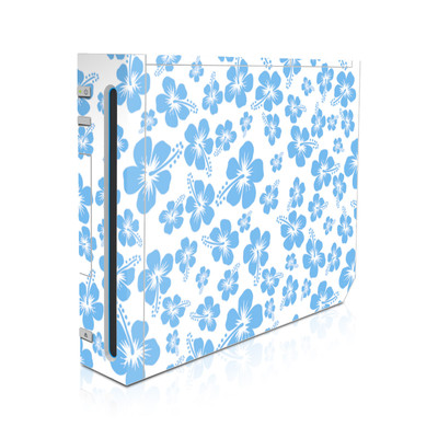 Wii Skin - Turquoise Hibiscus