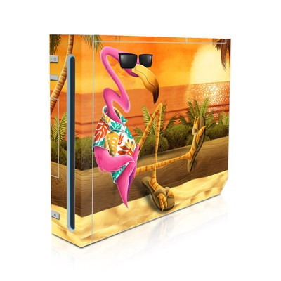Wii Skin - Sunset Flamingo