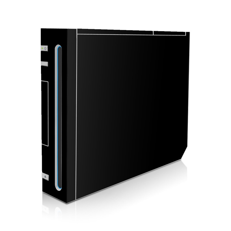 wii skin solid state black by solid colors decalgirl