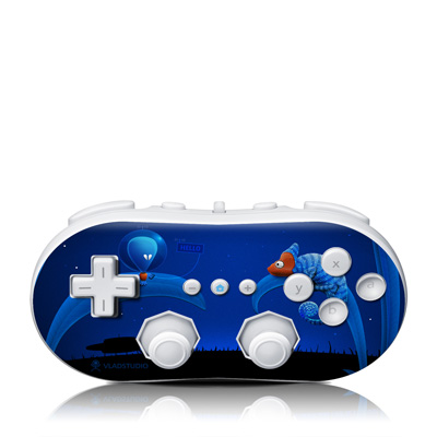 Wii Classic Controller Skin - Alien and Chameleon