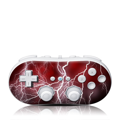 Wii Classic Controller Skin - Apocalypse Red