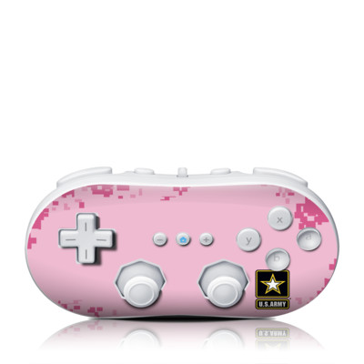 Wii Classic Controller Skin - Army Pink