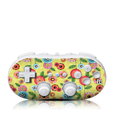Wii Classic Controller Skin - Button Flowers
