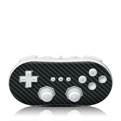 Wii Classic Controller Skin - Carbon