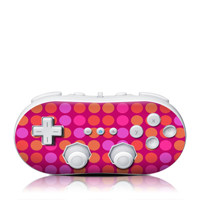 Wii Classic Controller Skin - Dots Pink