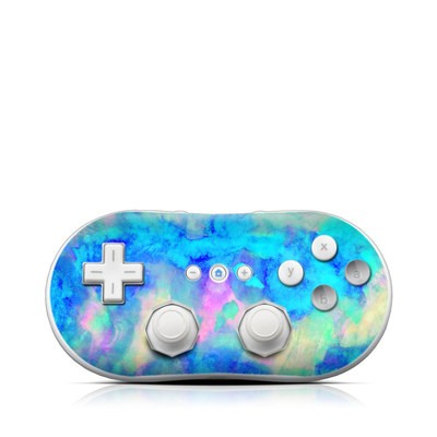 Wii Classic Controller Skin - Electrify Ice Blue