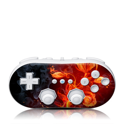 Wii Classic Controller Skin - Flower Of Fire