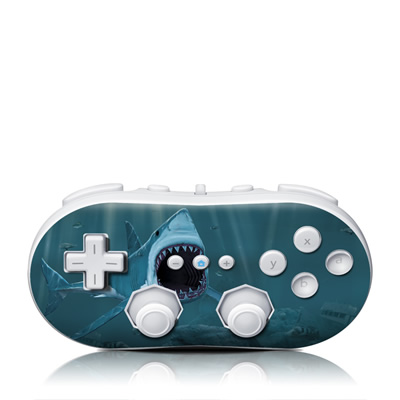 Wii Classic Controller Skin - Great White