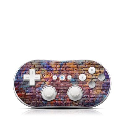 Wii Classic Controller Skin - Painted Brick