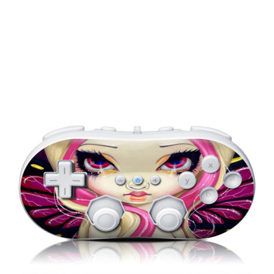 Wii Classic Controller Skin - Pink Lightning