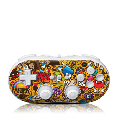 Wii Classic Controller Skin - Psychedelic