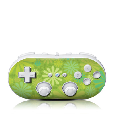 Wii Classic Controller Skin - Lime Punch
