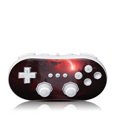 Wii Classic Controller Skin - Red Harbinger