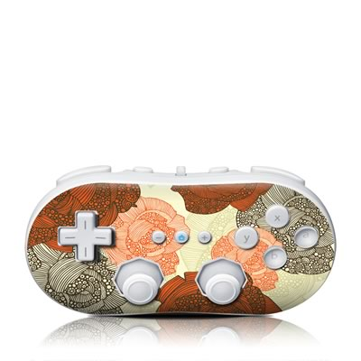 Wii Classic Controller Skin - Roses
