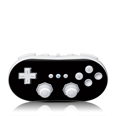 Wii Classic Controller Skin - Solid State Black