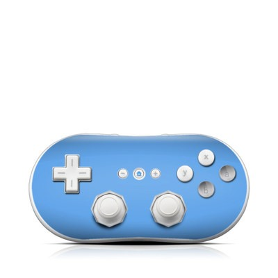 Wii Classic Controller Skin - Solid State Blue