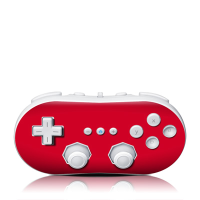 Wii Classic Controller Skin - Solid State Red