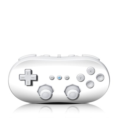 Wii Classic Controller Skin - Solid State White
