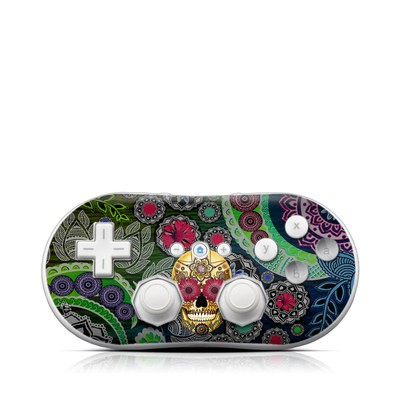 Wii Classic Controller Skin - Sugar Skull Paisley