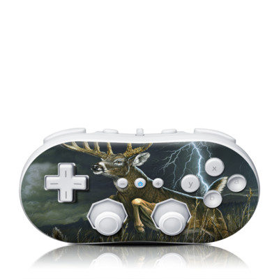 Wii Classic Controller Skin - Thunder Buck