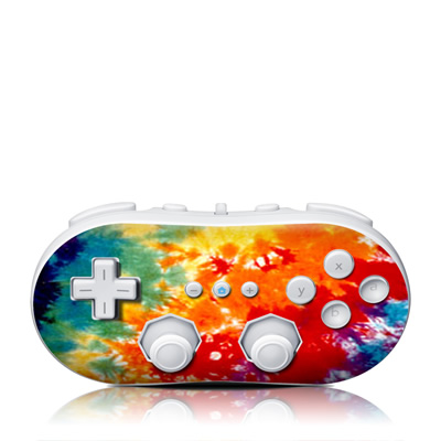 Wii Classic Controller Skin - Tie Dyed