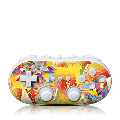 Wii Classic Controller Skin - Wall Flower