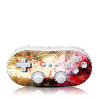 Wii Classic Controller Skin - Woodflower