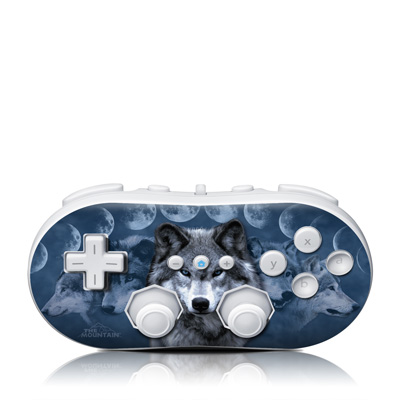 Wii Classic Controller Skin - Wolf Cycle