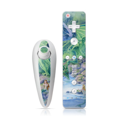Wii Nunchuk Skin - Of Air And Sea