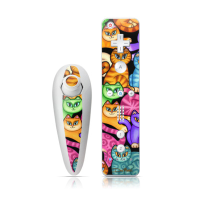 Wii Nunchuk Skin - Colorful Kittens