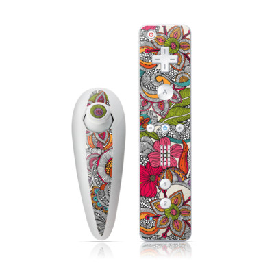Wii Nunchuk Skin - Doodles Color