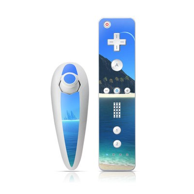 Wii Nunchuk Skin - Endless Blue