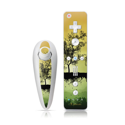 Wii Nunchuk Skin - Flying Tree Amber