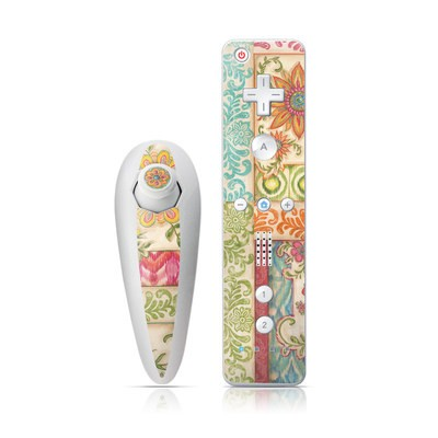 Wii Nunchuk Skin - Ikat Floral