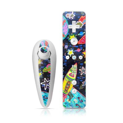 Wii Nunchuk Skin - Out to Space