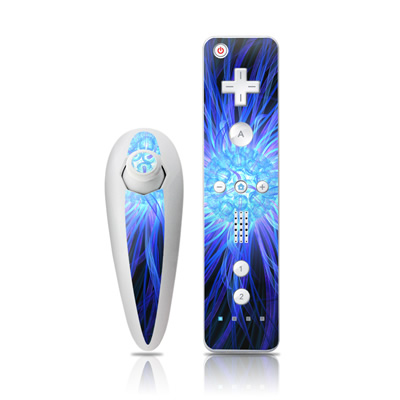 Wii Nunchuk Skin - Something Blue