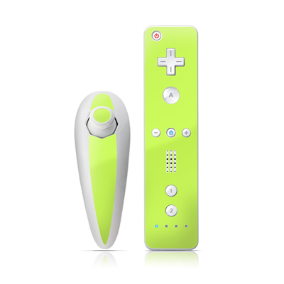 Wii Nunchuk Skin - Solid State Lime